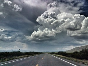 The road from Bisbee to Benson.